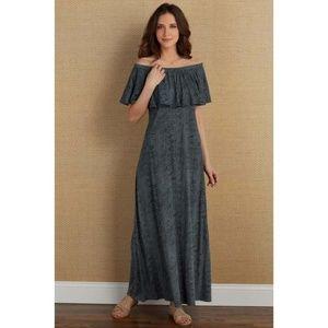 NEW Soft Surroundings Carina Dress XS Off Shoulder